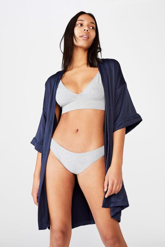 Textured Kimono, NAVY