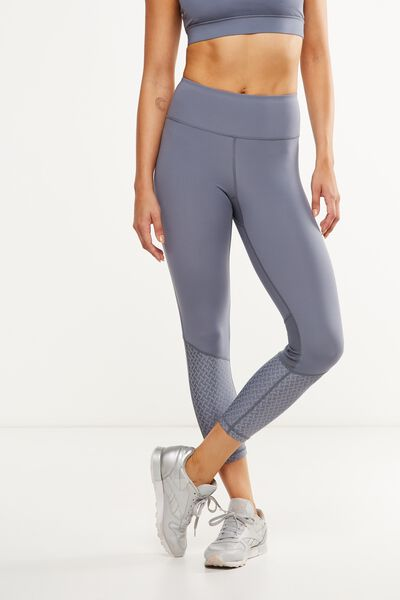 Luxe Reflective 7/8 Tight, TITANIUM/SILVER
