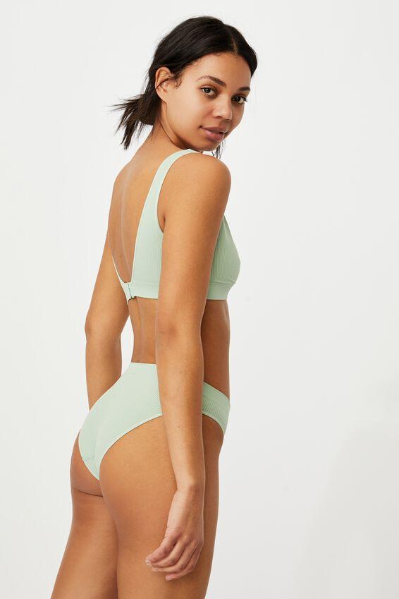 Seamfree High Cut Cheeky Bikini Brief, MINT CHIP