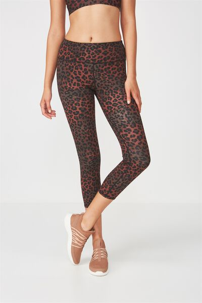 Recycled Highwaisted Yoga 7/8 Tight, LOVELY LEOPARD MAPLE