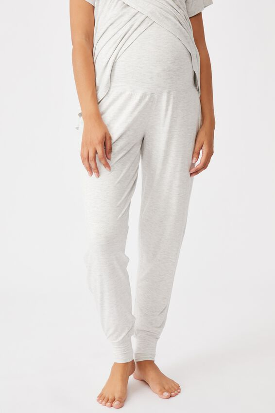 Sleep Recovery Maternity Pant, SOFT GREY MARLE