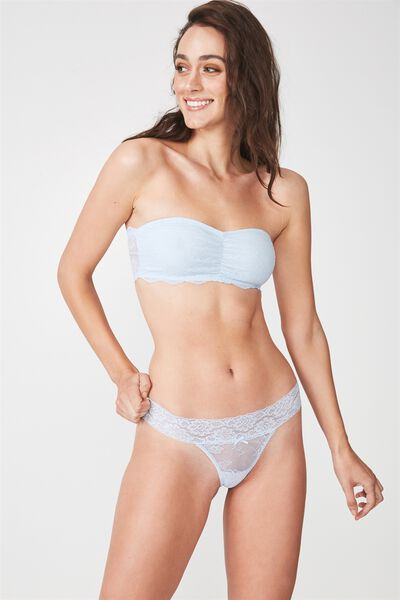 Sophia Lace G-String Brief, COASTAL BLUE