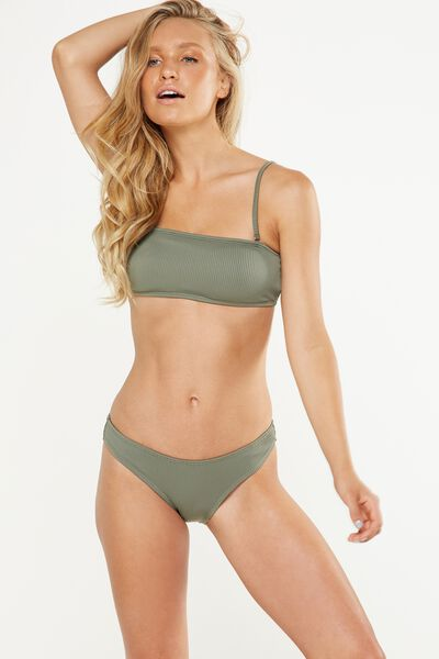 Rib Seamless Full Bikini Bottom, COOL AVOCADO