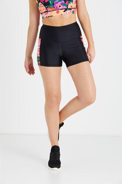 High Waist Yoga Short, BBH BLACK/TROPICAL LASHES