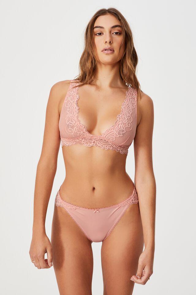 Ainsley Lace Bikini Brief, CANDY FLOSS