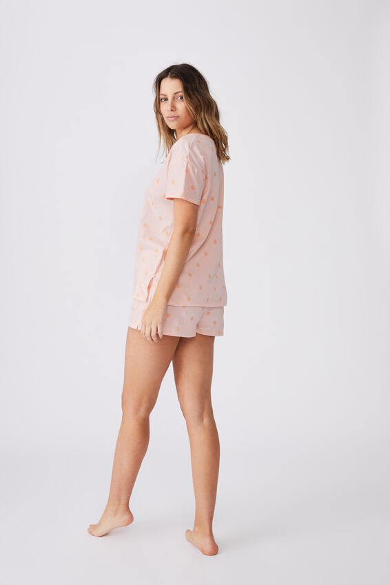 Jersey Sleep T Shirt, ROSE WATER/PEACHY KEEN