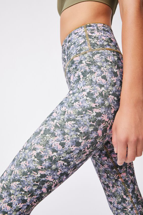 Reversible 7/8 Tight, SUMMER BLOOM OREGANO/OREGANO