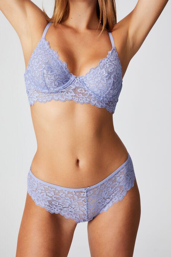 Ivy Lace Bikini Brief, PERIWINKLE