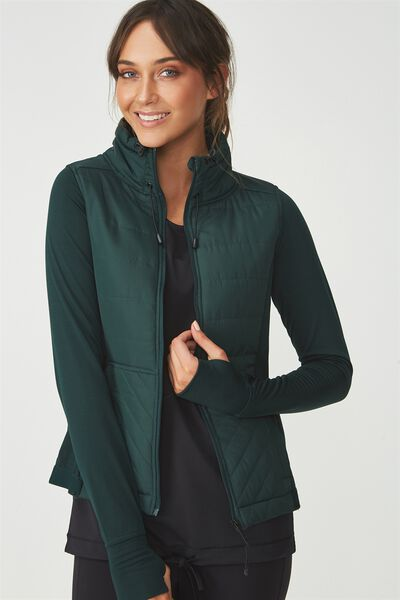 Active Slimline Puffer Jacket, HUNTER GREEN