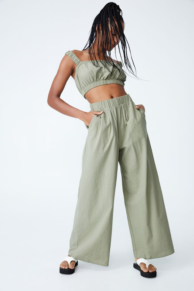 Relaxed Beach Pant, TOASTED PISTACHIO
