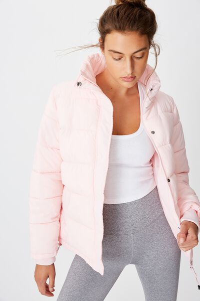 The Mother Puffer Jacket, BALLERINA PINK