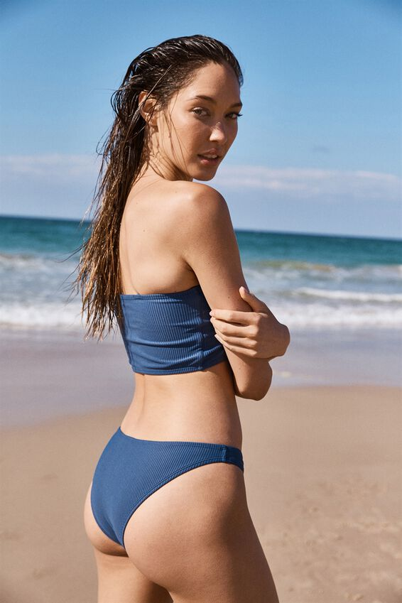 Classic Full Bikini Bottom, MARINA BLUE RIB