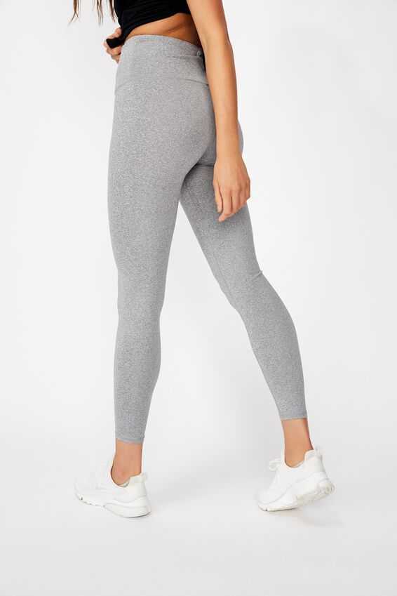 Active High Waist Core Tight, MID GREY MARLE