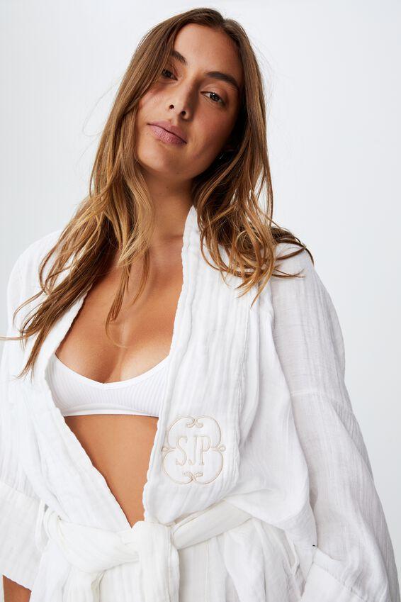 I-Do Robe Personalisation, WHITE