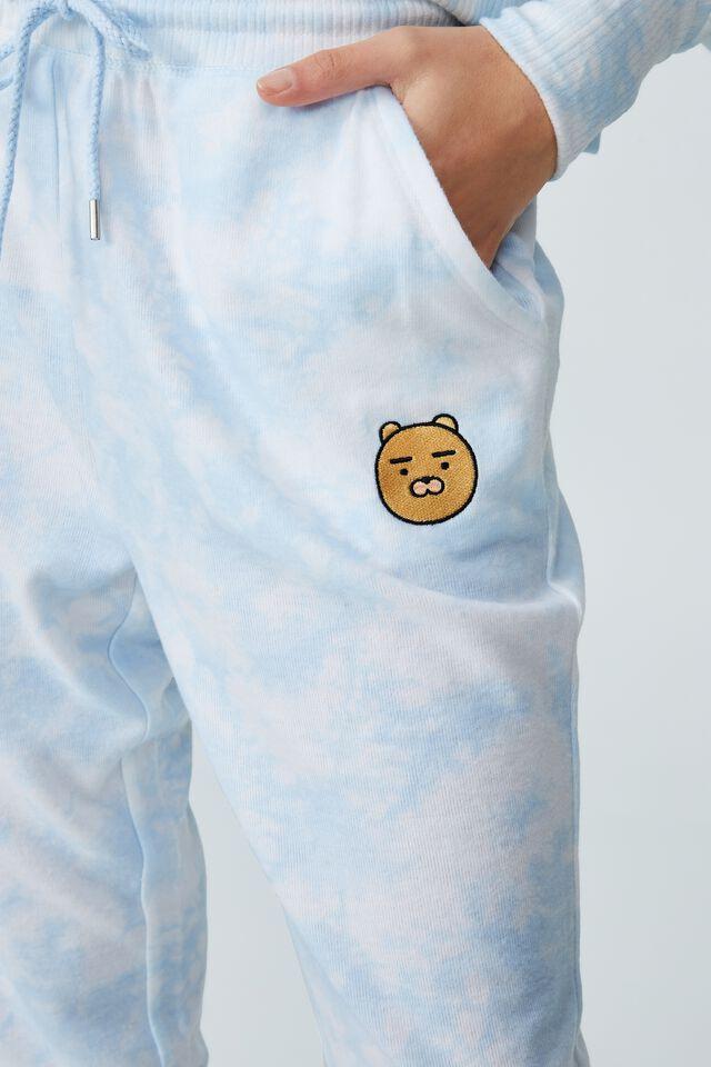 Super Soft Slim Cuff Pant, LCN KAKAO FRIENDS/TIE DYE BLUE