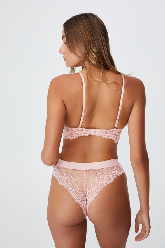 Ainsley Lace Wirefree Bra, CANDY FLOSS