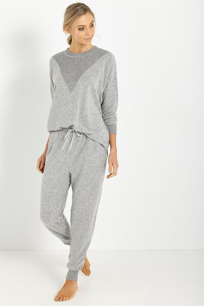 Super Soft Slim Track Pants, GREY MARLE