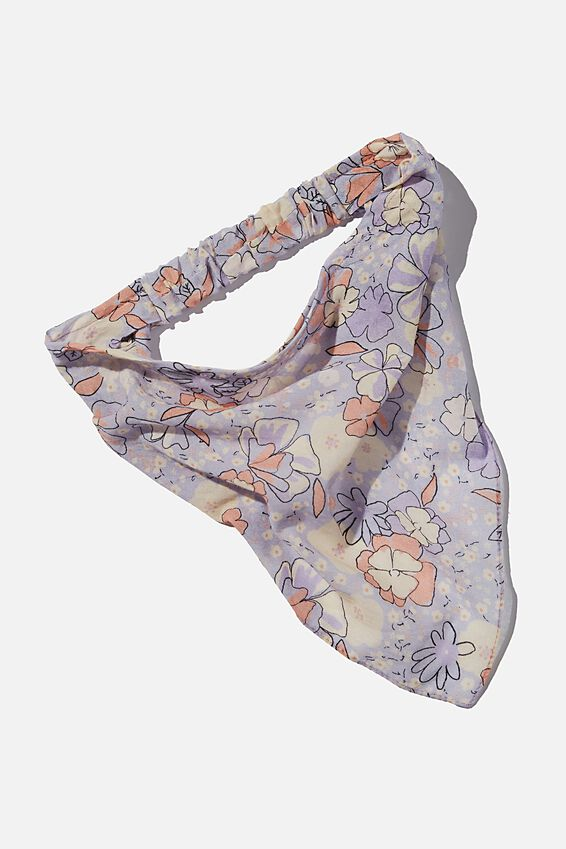 Back To Nature Bandana Scarf, LAVENDAR FLORAL