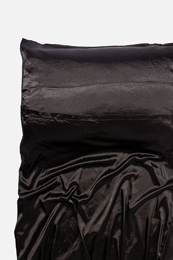 Satin Tanning Bag, TRUE BLACK