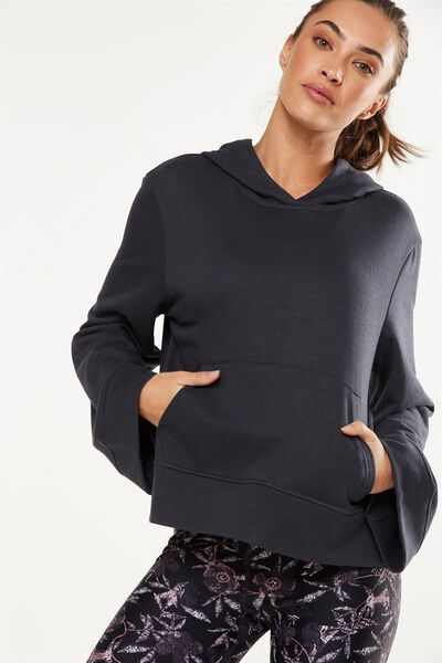 Bell Long Sleeve Top, SHIMMER CHARCOAL