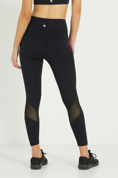 Spliced Laser Pocket 7/8 Tight, BLACK
