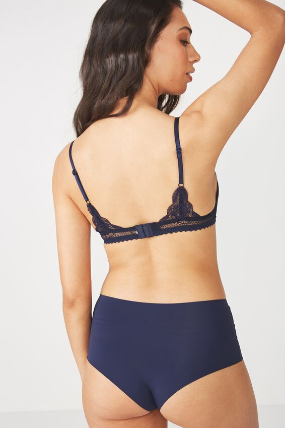 Cindy Fixed Cup Wirefree Bralette, MIDNIGHT