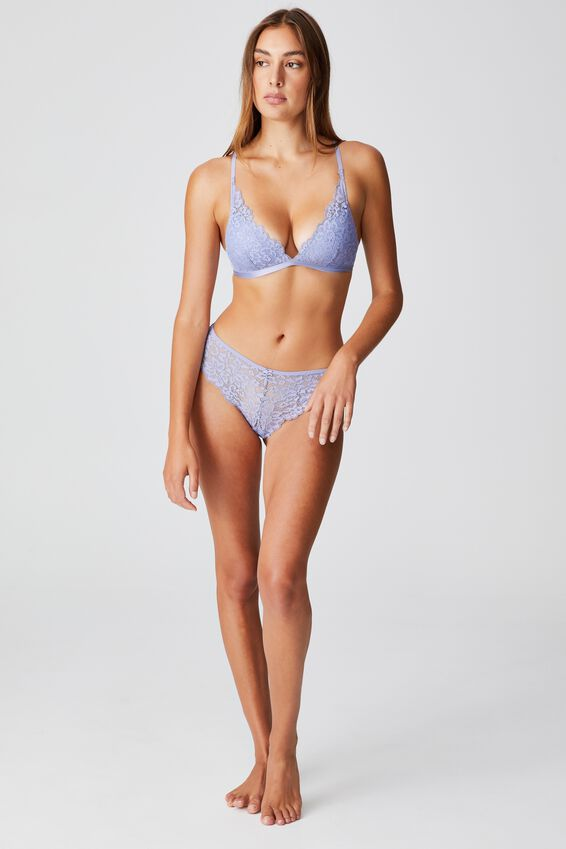 Ivy Lace Wirefree Bra, PERIWINKLE