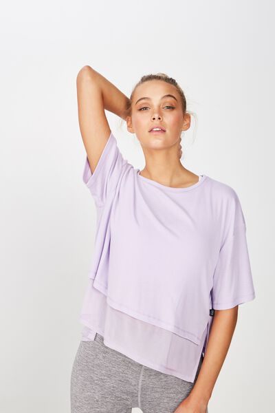Layered Rib Tshirt, FAIR LILAC