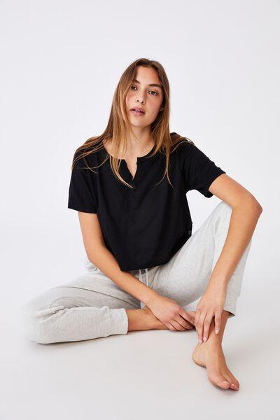 All Things Fabulous Cropped Tshirt, BLACK