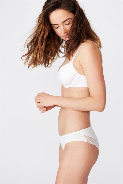 Party Pants Seamless Bikini Brief, CREAM