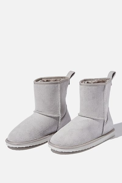 Hallie Short Home Boot, LIGHT GREY CORD