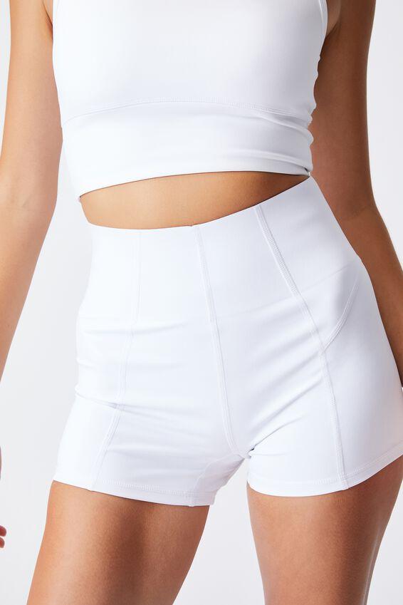 Ultimate Booty Shortie Short, WHITE