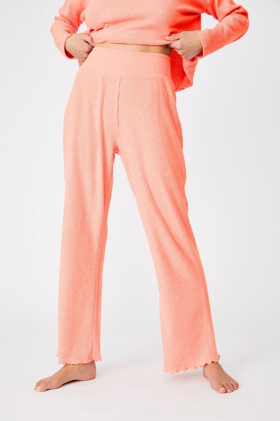Super Soft Relaxed Pant, PAPAYA PUNCH MARLE RIB