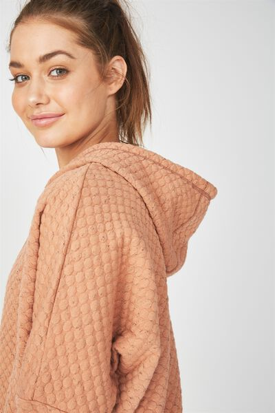 Bubble Fleece Long Sleeve Top, MAPLE