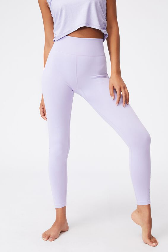 Lifestyle Seamless 7/8 Yoga Tight, CHALKY LAVENDER