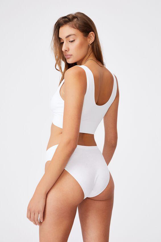 Seamfree Bikini Brief, WHITE DAISY JACQUARD