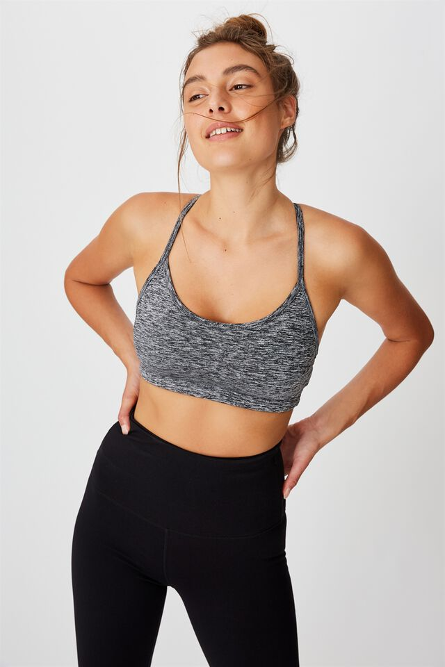 Workout Yoga Crop, SALT PEPPER
