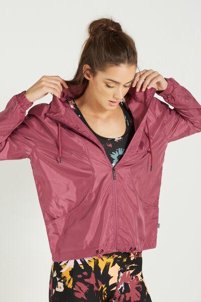 Transparent Lightweight Jacket, WILD ROSE