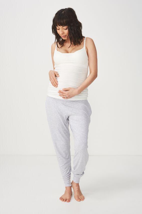 Vivienne Cotton Maternity Camisole, CREAM