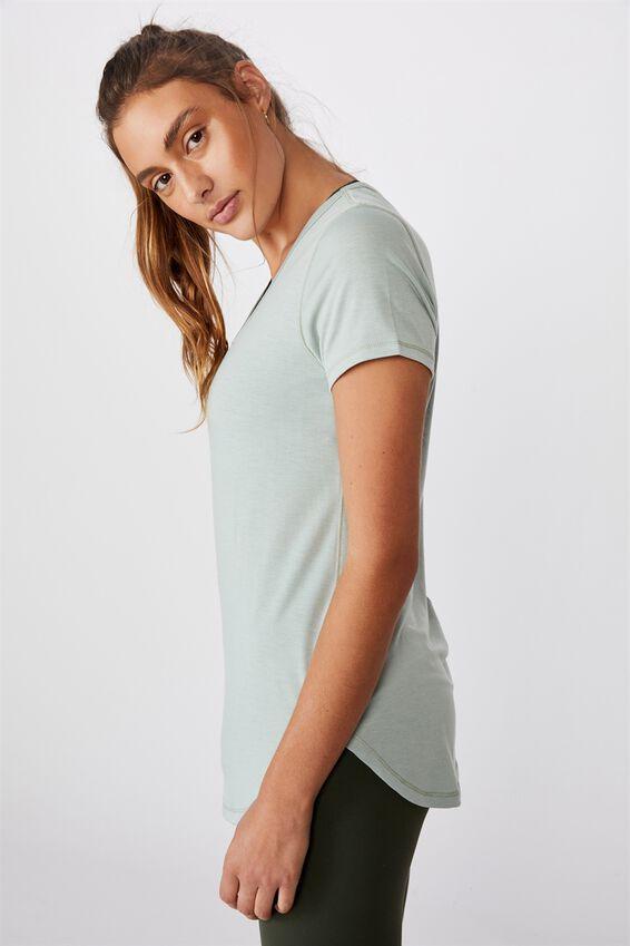 Gym T Shirt, WASHED ALOE