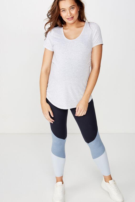 Maternity Gym T Shirt, GREY MARLE