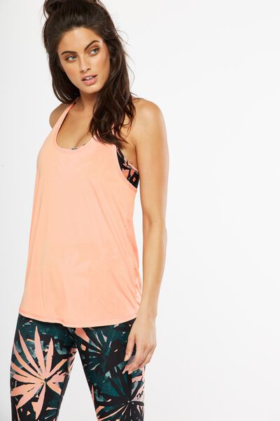 Triple Back Tank Top, SOFT CORAL/MELON