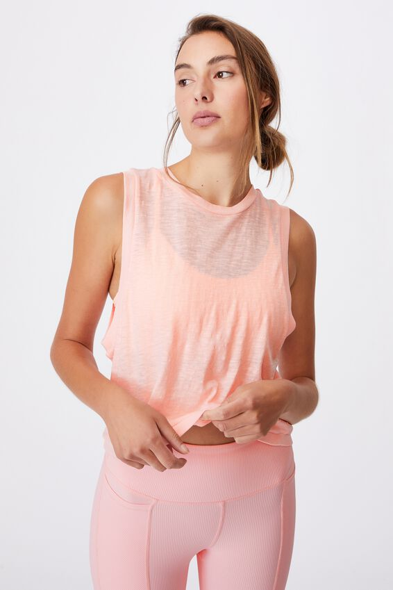 All Things Fabulous Cropped Muscle Tank, FAIRY TALE WASH