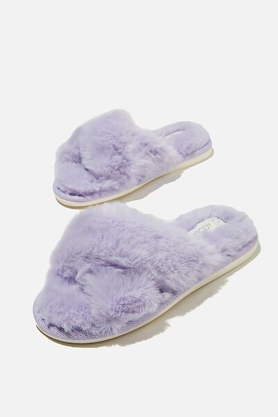 Duo Crossover Slipper, PERIWINKLE