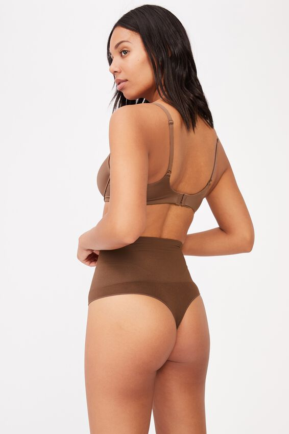 Take Control High Waist G String, ESPRESSO