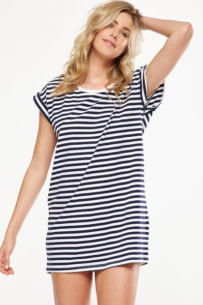Match Back Sleep Nightie, STRIPE