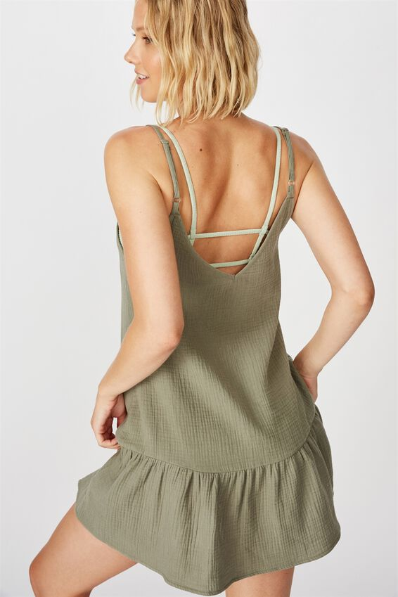Drop Hem Beach Dress, COOL AVOCADO