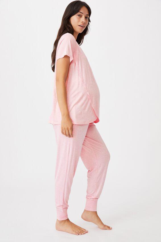 Sleep Recovery Maternity Pant, BALLERINA STRIPE