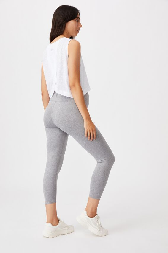 Maternity 7/8 Tight, MID GREY MARLE