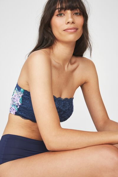 Love Story Bandeau, DARK STORM BLUE SUPER BLOOM